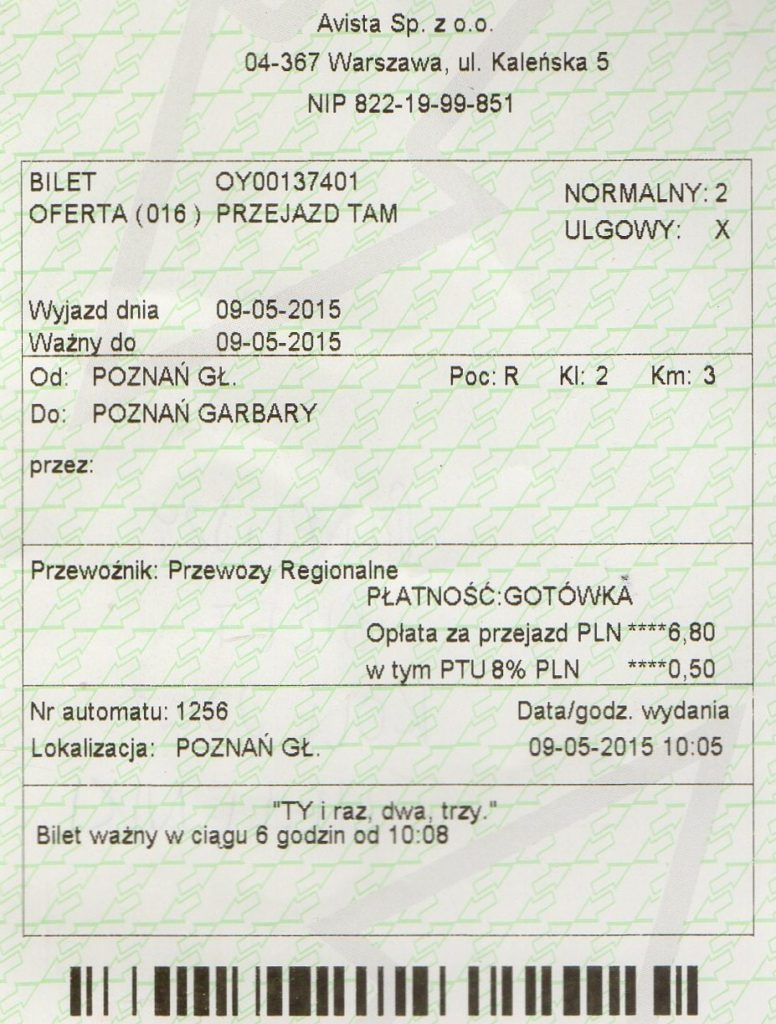 Kup bilet PKP Regio